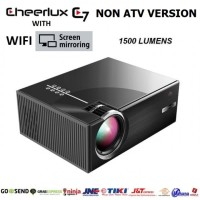 CHEERLUX C7 WiFi Mirroring Display NON ATV - LED Projector 1500 Lumens