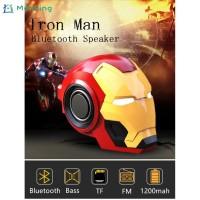 Terbaik Speaker Wireless Bluetooth Bentuk Iron Man dengan Radio FM