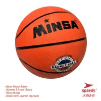 "Promo Basket Ball Rubber Size No 7 Size Dewasa 24Cm 29.5"" Inch"