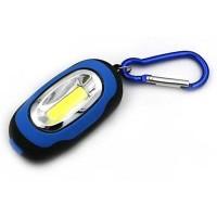 Promo Gantungan Kunci Tas Lampu Senter Mini LED COB Karabiner 25 Lumen