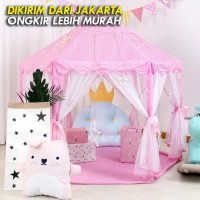 Tenda Anak AN8111 Princess Castle Jumbo Mainan Anak Portable - Pink