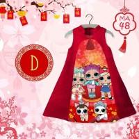 MA48 #D LOL SURPRISE (dress choengsam imlek anak import)