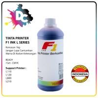 Tinta Printer F1 Ink for Printer Epson L-Serie L110,L120,L800 Cyan 1Kg - Hitam