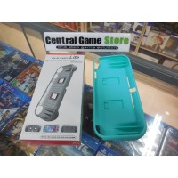 Switch Lite TPU Protector+Game Card Storage Slots & HandGrip-Turquoise
