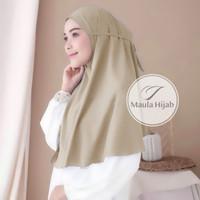 Bergo Tali Maula Hijab Jilbab Kerudung Khimar Instan Tali Tanpa Pet