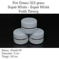 Pot Cream 12,5 gram / Pot jar 12,5 gram Putih Terang - super white