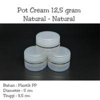 Pot Cream 12,5 gram / Pot jar 12,5 gram Natural - Natural