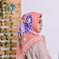 Hijab Kerudung Segi Empat Cassamia Floral - 02. Salem
