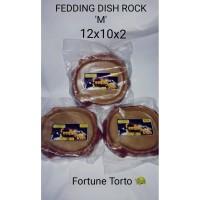 Feeding dish rock M/Tempat makan sulcata/tempat minum kura kura darat