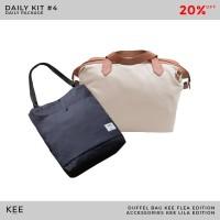 [BUNDLING] KEE Tas Duffel Flea Totebag Lila Tote Bag - Daily Kit #4