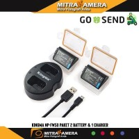 Kingma NP-FW50 Paket 2 Battery & 1 Charger