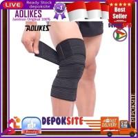 Aolikes 180CM Elastis Knee Support Leg Knee pad Pelindung Cedera