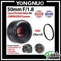 Lensa Yongnuo 50mm F/1.8 Autofokus for Canon DSLR + Free Filter UV