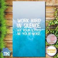Hiasan Dinding Work Hard In Silen / Dekorasi Rumah / Hiasan Kamar Cafe