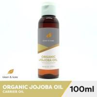 Organic Jojoba Oil 100ml 100% Pure Unrefined, Cold Pressed Carrier Oil