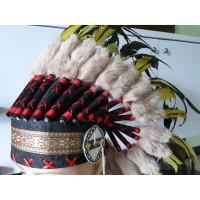 Warbonet Apache Bulu Kuning Topi Indian Apache