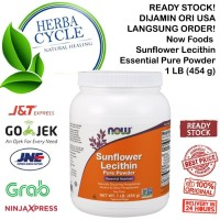 Now Foods Sunflower Lecithin Powder Nutrisi Penting 1 lb (454 g) ORI