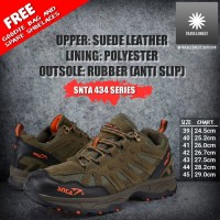 Sepatu Gunung SNTA 434 - Sepatu Outdoor - Hiking Running Riding Boots