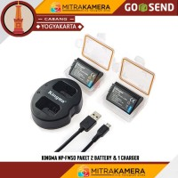 Kingma NP-FW50 Paket 2 Battery & 1 Charger Battery - Hitam
