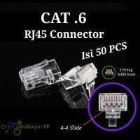 Konektor RJ45 NYK Cat6 Jack Connector RJ 45 CAT 6 isi 50 pcs