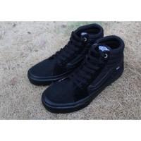 Sepatu skate pria/wanita vans oldskol sk8 HI full black