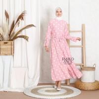 Baju Gamis Wanita Muslim Terbaru Carina - Emikoawa Dress Syari Korea
