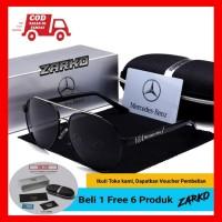 kacamata hitam pria Polarized original Mercedes-Benz seri 751