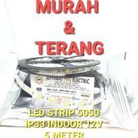 Lampu LED Strip Mata 5050 IP33 12V INDOOR LED STRIP IP 33 12 V WW & WH