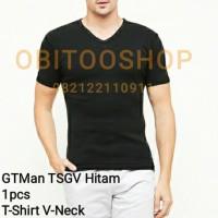 Oblong Pria GTman V-Neck ( TSGV B/Hitam ) Kaos Dalam Laki Laki