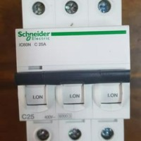 mcb schneider ic60n 3p 25a 3phase 3pull 3 phase A9F74325 3 phase 25 a