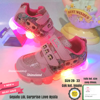 Sepatu Anak Perempuan Lol Surprise Nyala Lampu Led Sneakers