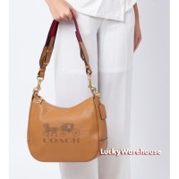 Coach Jes Leather Hobo Brown - Ori 100%