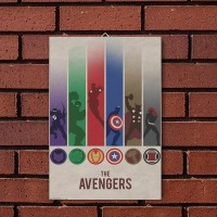The Avengers (Poster Kayu)