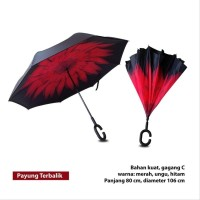 Jual Payung Hujan Kazbrella Tombol Merah Payung Terbalik Berkualitas