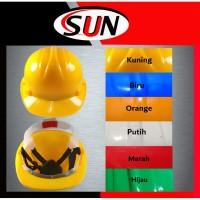 helm Proyek Safety helmet orange kuning biru putih Merah