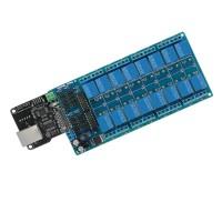 Sos Modul Kontrol Ethernet Dengan Relay 16 CHs Untuk Arduino
