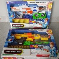 Mainan Tembakan Nerf Soft Bullet Gun - Mainan Tembakan Peluru Busa