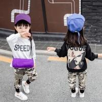 Promo Setelan Sweater Kaos Lengan Panjang + Celana untuk Bayi