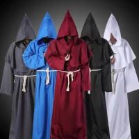 Jubah Pria Model Medieval Monk untuk Kostum Cosplay Halloween