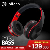 Unitech Headset Headphone Bluetooth Wireless Portable Super Bass D-422