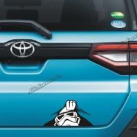 cutting sticker Star Wars ngintip stiker mobil