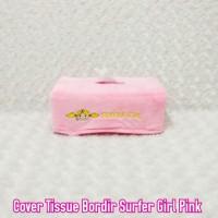 TEMPAT BOX KOTAK TISSUE TISSU WC MOBIL BONEKA SURFER GIRL PINK MUDA J