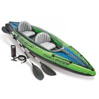 Perahu Karet Dayung Plus Pompa Challenger K2 Kayak Intex 68306