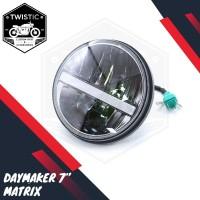 Daymaker 7 Inchi Matrix Lampu LED Motor W175 Benelli XSR Harley Jeep