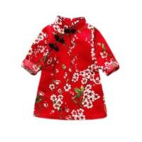DRESS ANAK IMPORT -812 - DRESS IMLEK CHEONGSAM KOSTUM