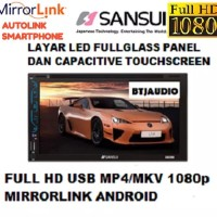 TV MOBIL DOUBLE DIN SANSUI FULL HD (USB BISA PLAY MKV,MP4 RES 1080p)