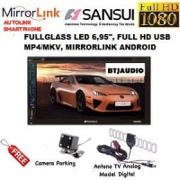 TV MOBIL DOUBLE DIN SANSUI FULL HD (USB PLAY MP4/MKV)+KAMERA+ANTENA