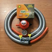 paket regulator top gas dan selang - regulator paket top gas