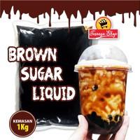 Brown Sugar Syrup (Luquid) 1Kg Khusus Gosend/Grab