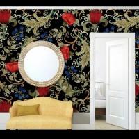 Wallpaper stiker motif bunga teratai lebar 45CM panjang 10meter